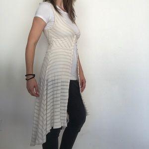 Anthropologie Postmark maxi sweater vest